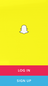 After you've downloaded the app, sign up for Snapchat.