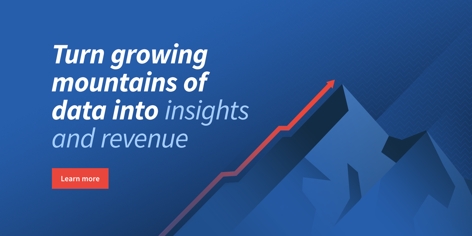 Turn growing mountains of data into insights and revenue